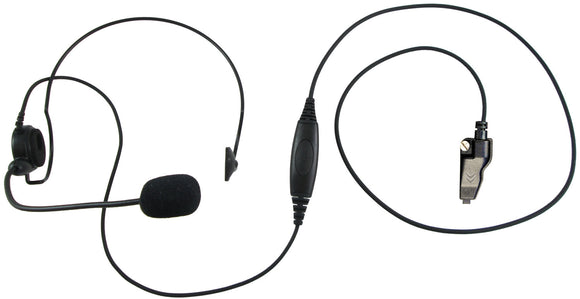 Single ear headset with push to talk for Kenwood TK-2180 TK-2260 NX-200 NX-210 NX-300 radios and more