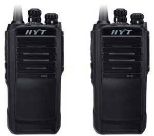 Hytera TC-508-U1 400-470 MHz UHF 4 watt 16 channel analog portable radio (2 Pack)