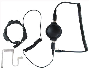 Throat mic headset for Kenwood radios with standard two pin connector TK-2100 TK-2101 TK-2102 TK-2118 TK-2160 TK-2170 TK-2173 TK-2200 and more