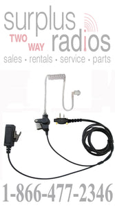 Two wire surveillance headset with push to talk for Icom F3001 F4001 F4011 F3011 F14 F24 F21