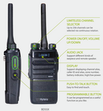 Hytera BD552i-BT-V1 136-174MHz VHF 4 Watt 256 Channel 16 zone IP54 dual mode analog/digital with built-in Bluetooth DMR portable radio