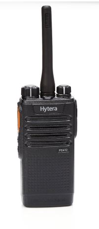 Hytera PD412i-U1 400-470 MHz UHF 4 watt 32 channel digital migration portable radio with integrated RFID reader