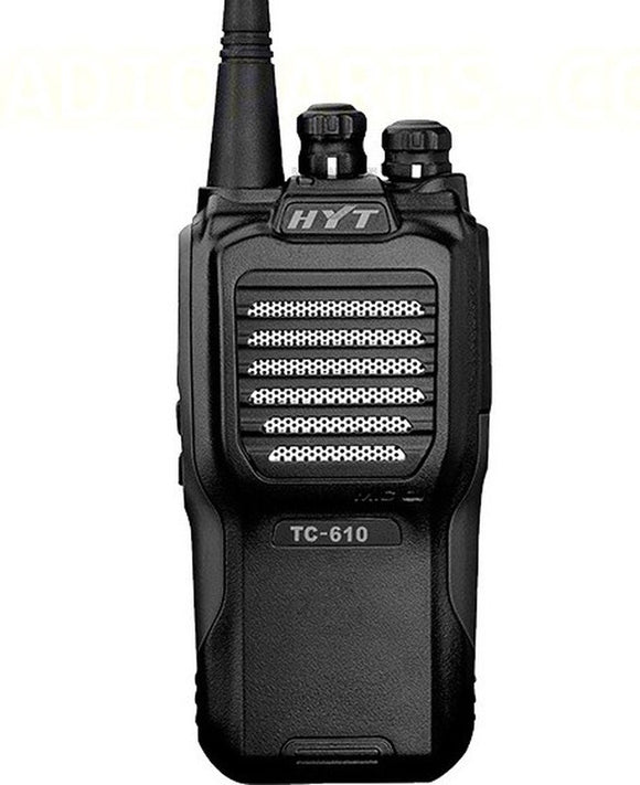 Hytera TC-610V-2-BLK 136-174MHz VHF 5 watt 16 channel analog portable radio