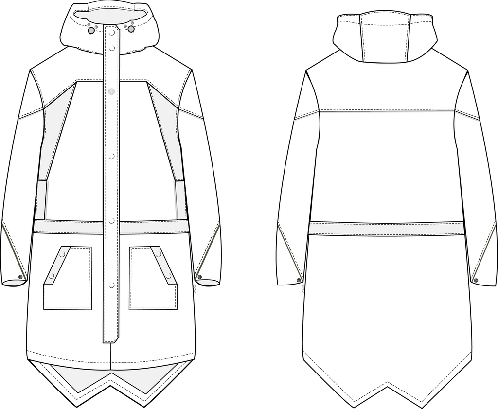 Diagram of waterproof parka