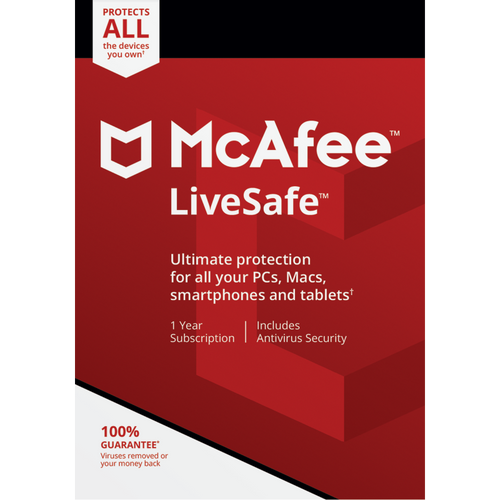 McAfee LiveSafe 2020 Unlimited Multi Devices 1 Year