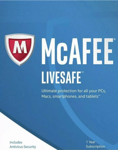 McAfee LiveSafe 2020 One Device 1 Year - NEW & RENEW CUSTOMERS