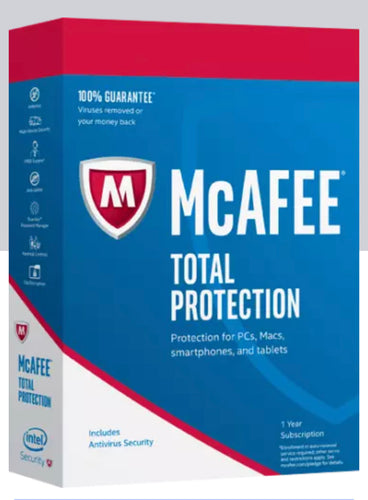 McAfee Total Protection 2020 10 Users - 12 Months - Latest Updates