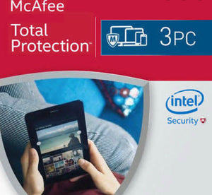 McAfee Total Protection 2021 3 PC 1 Year 1 user