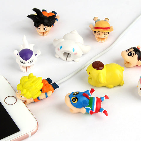 Cute Cartoon Bite for USB Cable Protector/Organizer - The Impulse Market