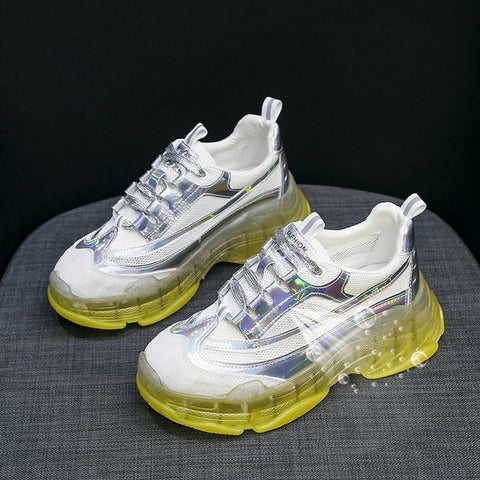 Reflective Chunky Fashion Sneakers