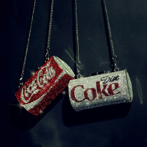 COCA COLA Diamond Studded Clutch w/ Chain - The Impulse Market