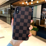 LV Leather Case for iPhone 7/7+/8/8+ - The Impulse Market