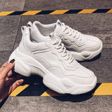 White Vulcanized Platform Shoes