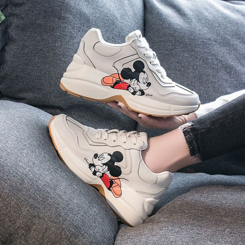 """Gucci"" Inspired Mickey Collection Sneakers"