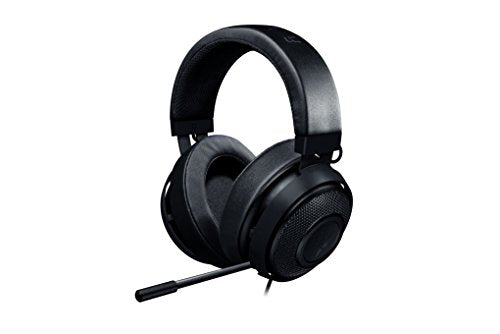Razer Kraken Pro V2: Lightweight Aluminum Headband - Retractable Mic - in-Line Remote - Gaming Headset Works with PC, PS4, Xbox One, Switch, Mobile Devices - Black