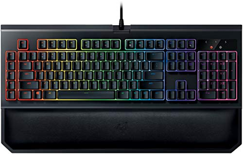 Razer BlackWidow Chroma V2 - RGB Mechanical Gaming Keyboard - Ergonomic Wrist Rest - Tactile & Clicky Green Switches