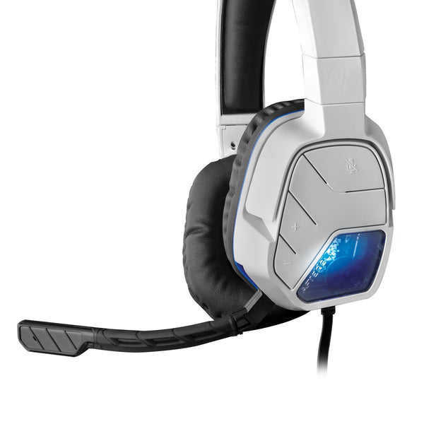 PDP Afterglow LVL 5+ Wired Headset for PlayStation 4 - White