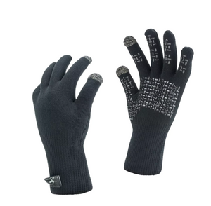 Waterproof Sealskinz Ultra Grip Gloves :USA made. The 100% waterproof, windproof, breathable knitted gloves...