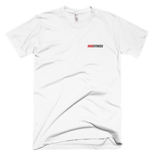 Load image into Gallery viewer, White Embroidered T-shirt. 100% combed Ringspun cotton. It's soft and durable. Buy online. MORFITNESS.