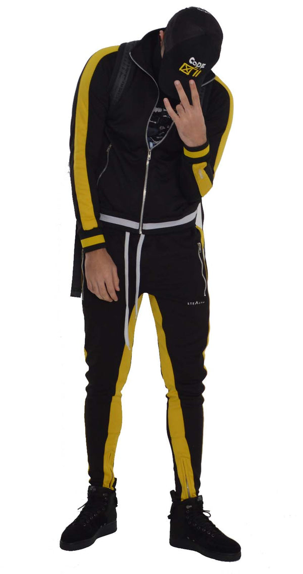 Vulcan Tracksuit (Black yellow)