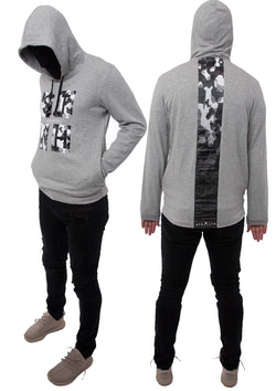 Cross Section Overhead Pixel hoody (Grey)