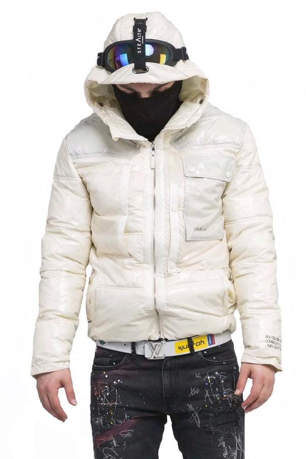 Summit Goggle Puffa Jacket  Light Sand/Dessert Grey