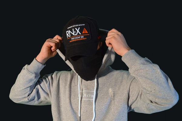 RN:X Trucker cap (Black/Orange)