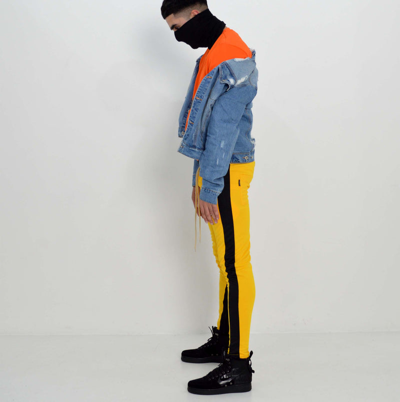 Vulcan Track Bottoms (Yellow/Black)