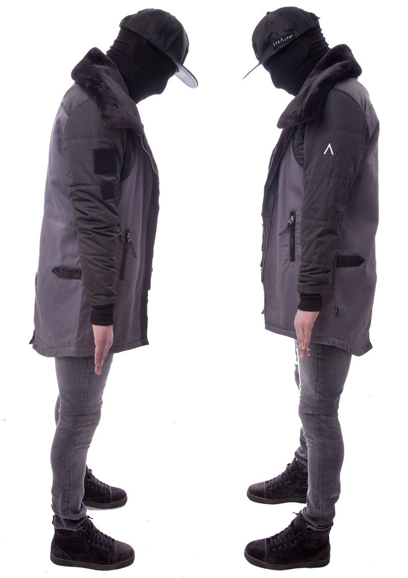 Arctic Long Jacket (Stealth Corrugated Grey)