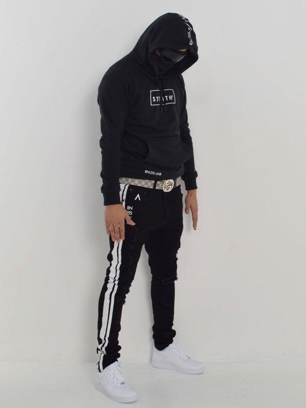 Facemask Hoody (Black)