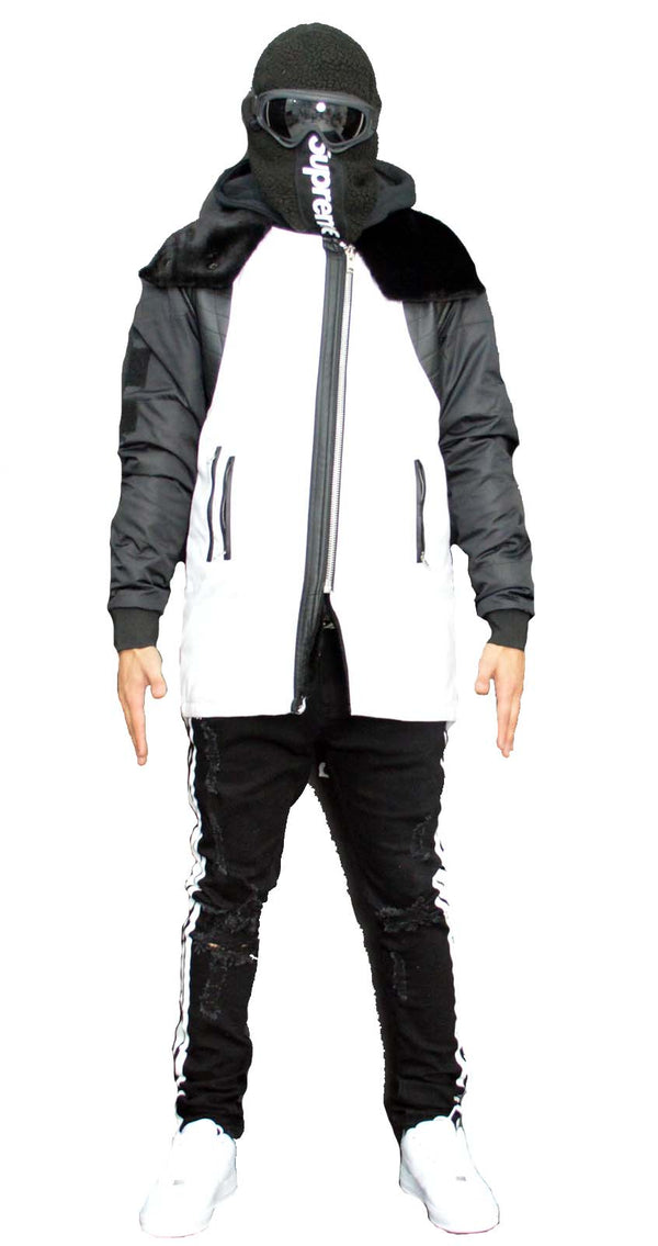 Arctic Long Jacket (White/Black)