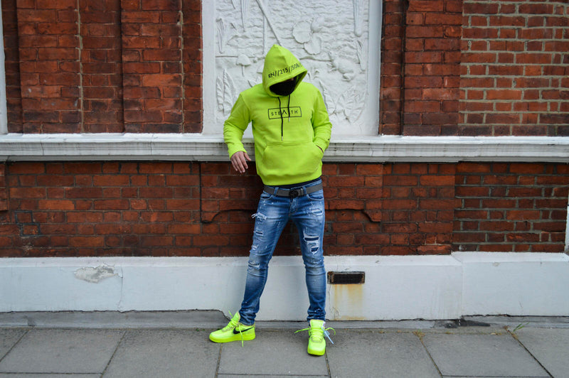 Facemask Hoody (Lime)