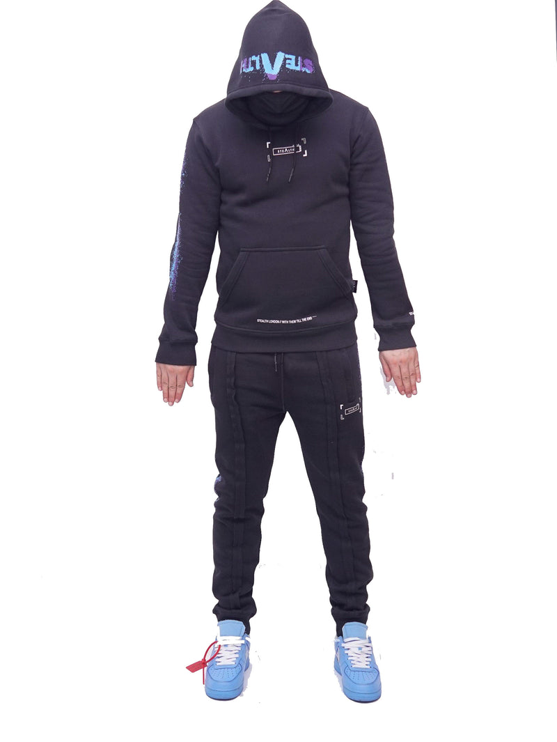 Men at Work facemask Tracksuit (Black)