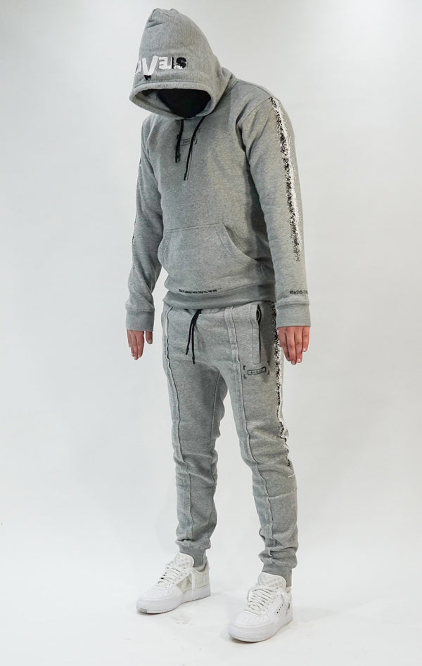 Men at Work facemask Tracksuit (Grey)