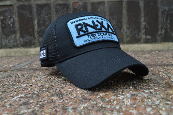 RN:X Trucker Cap (Black/Blue)