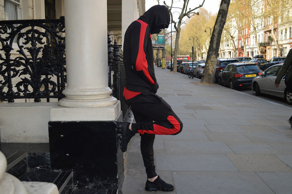 Isolate Facemask Tracksuit (Black/Red)