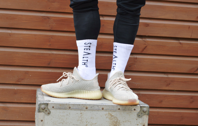 Stealth Logo Socks (White)