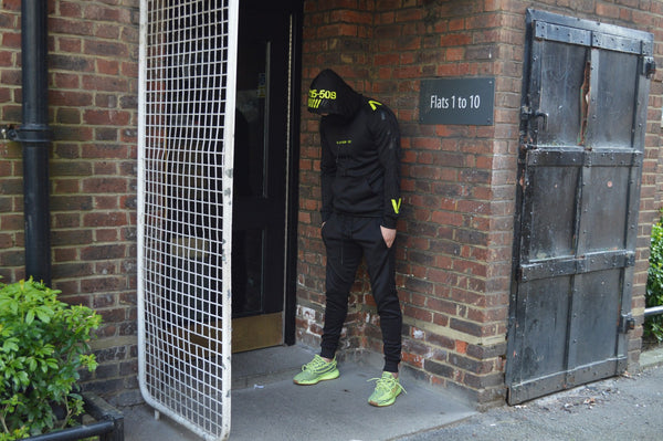 Finding Ops Tracksuit (Black/Lime)
