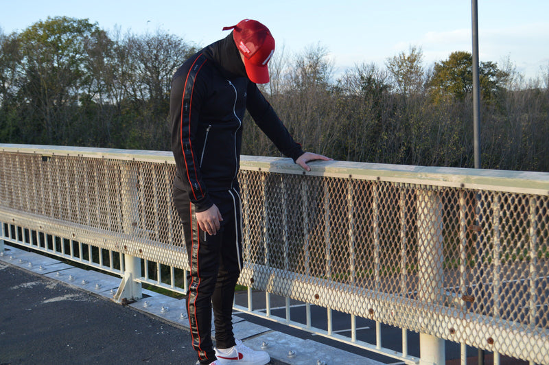 Enclosed Tracksuit (Black Red)