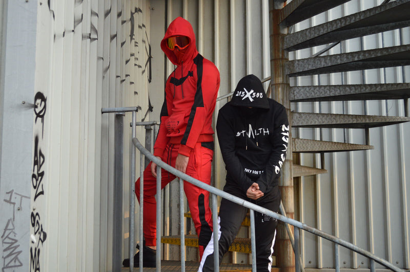 Isolate Facemask Tracksuit (Red)