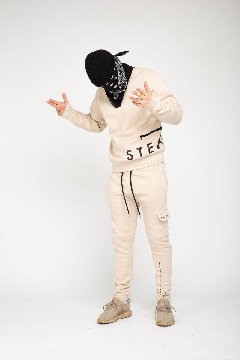 No Side Man Tracksuit (Beige)