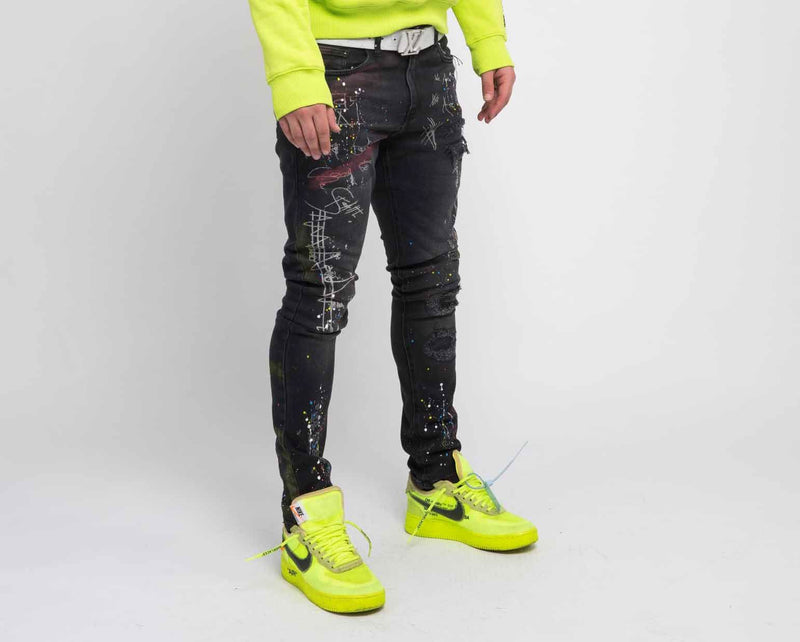 RN 215 coded Denim  (Black)