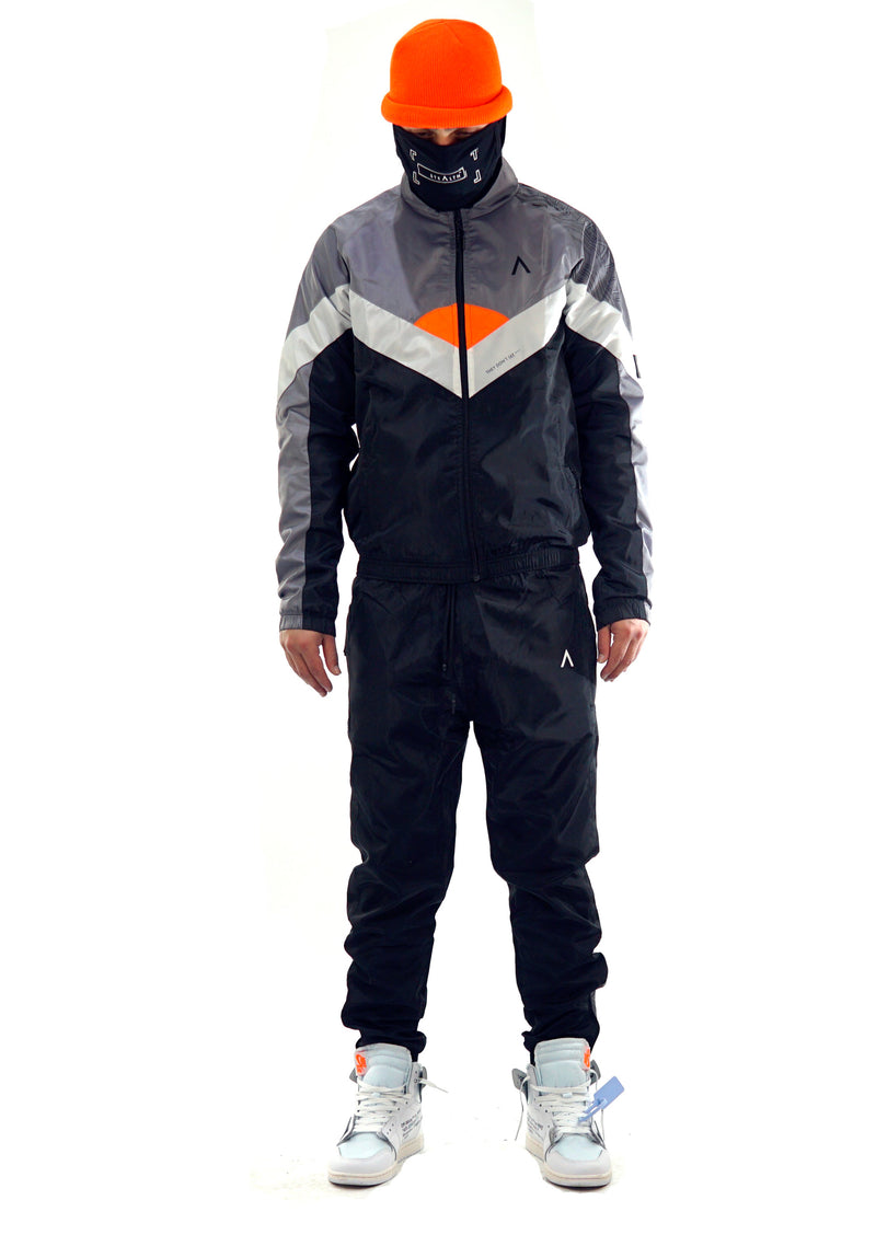 Mclarren Tracksuit (Black/White/Orange)