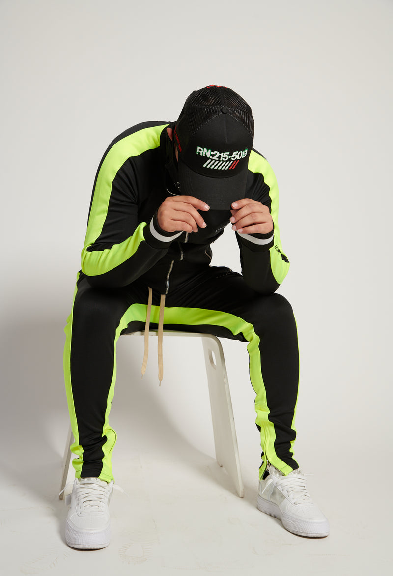 Vulcan Tracksuit (Black/Lime)