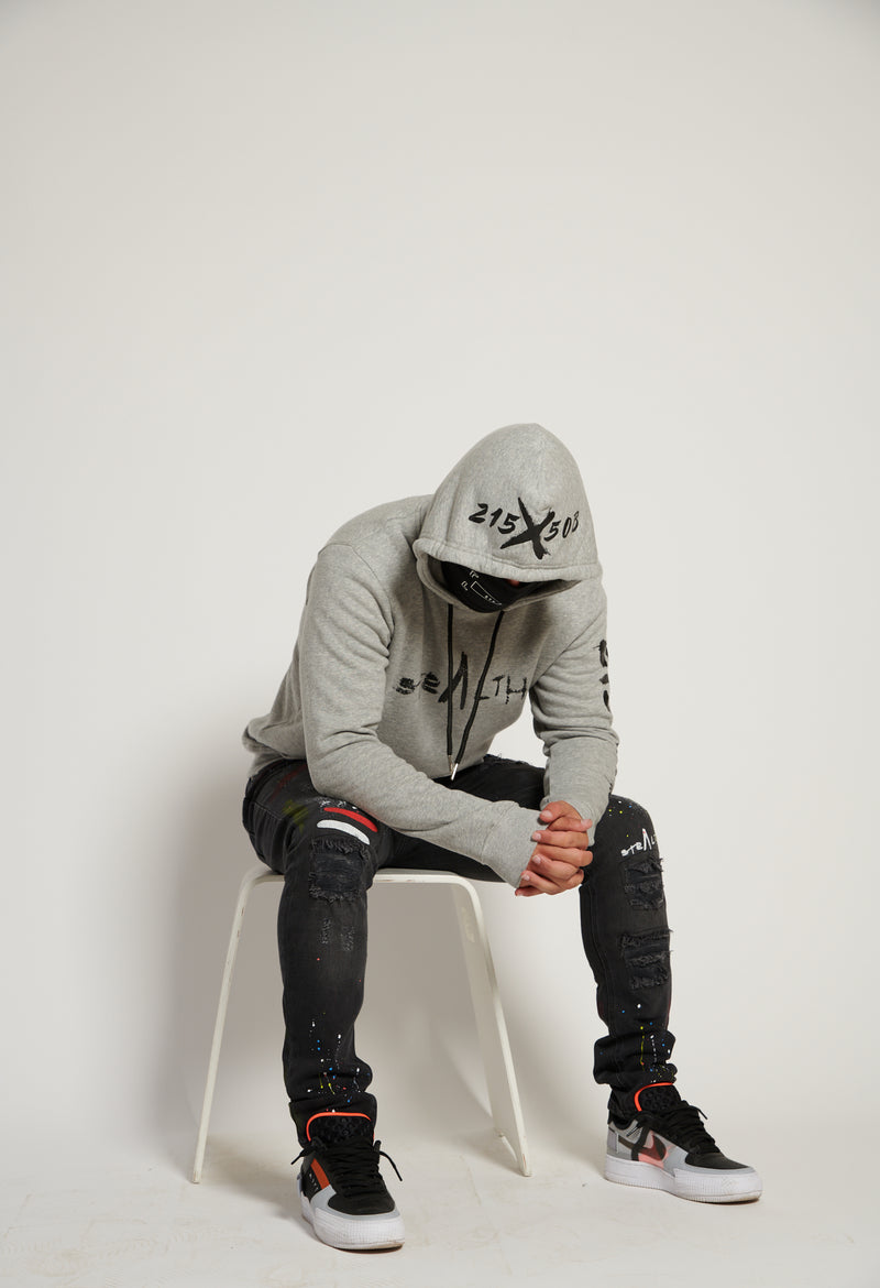 215X50B Hoody (Heather Grey/Black)