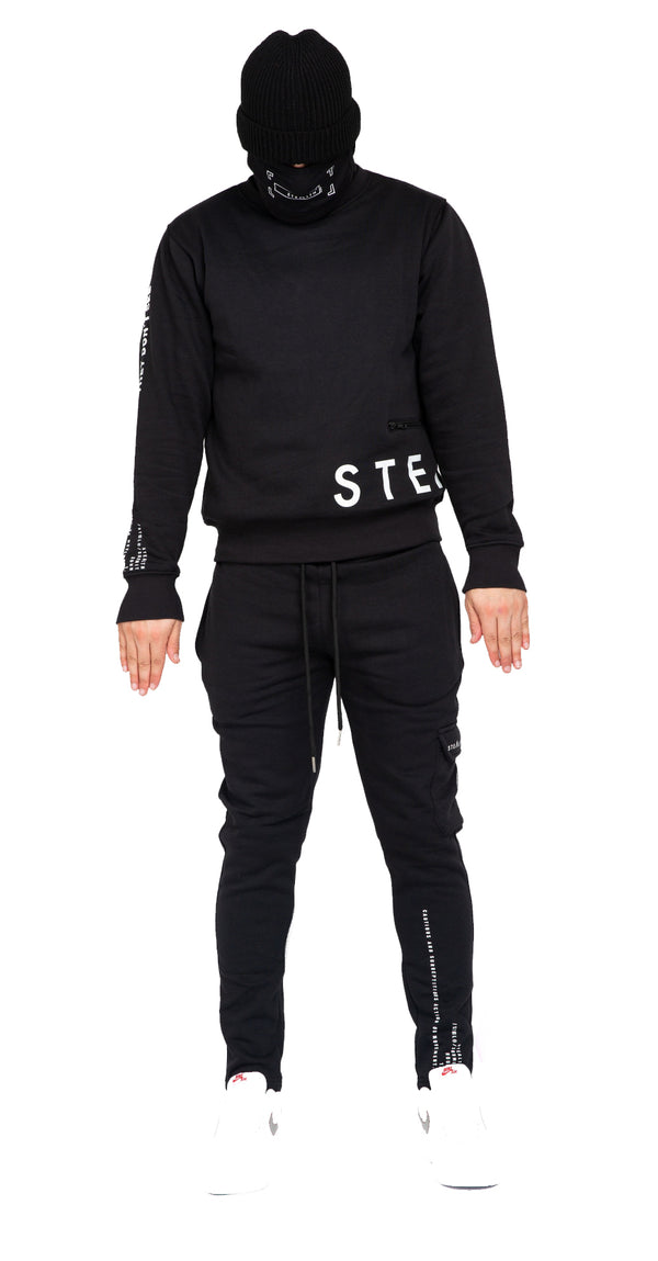 No Side Man Tracksuit (Black)