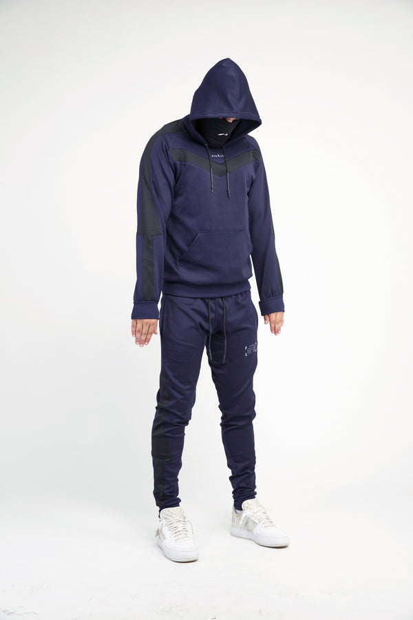 Isolate Facemask Tracksuit (Dark Navy/Black))