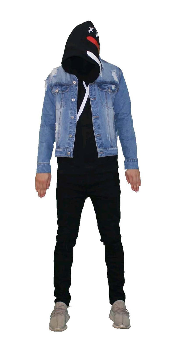 Stealth London Clothing Co Medium (SlimFit) They Don't See Ripped Denim Jacket