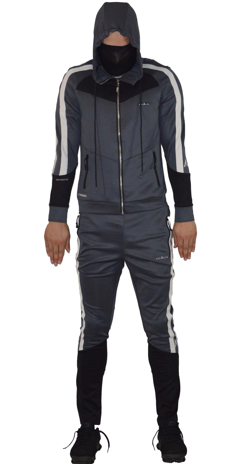 Stealth London Clothing Co Small (Slim Fit) L//6669 Tracksuit (Charcoal Grey/Black)