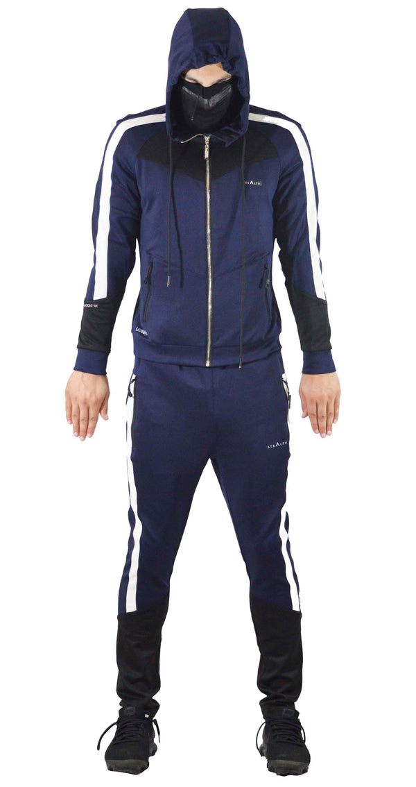 Stealth London Clothing Co Small (Slim Fit) L//6669 Tracksuit (Navy/Black)